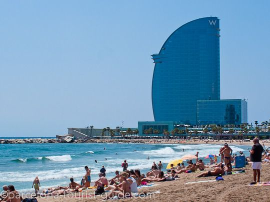 pictures of beaches in barcelona spain | Barceloneta beach in Barcelona