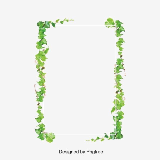 Rectangular Green Leaf Border Png And Psd Leaf Border Leaf Clipart Leaf Background