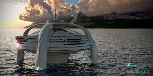 Utopia Yacht, future, BMT Nigel Gee, luxury, Yacht Island Design, fantastic, futuristic, watercraft