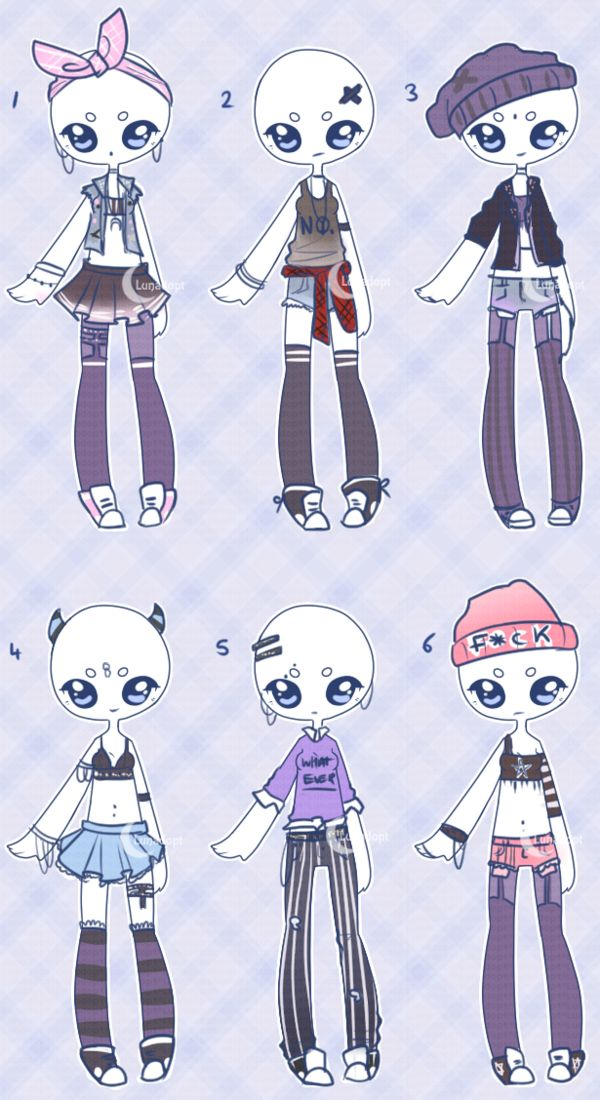 Set price outfits Grunge girls CLOSED by Lunadopt on DeviantArt