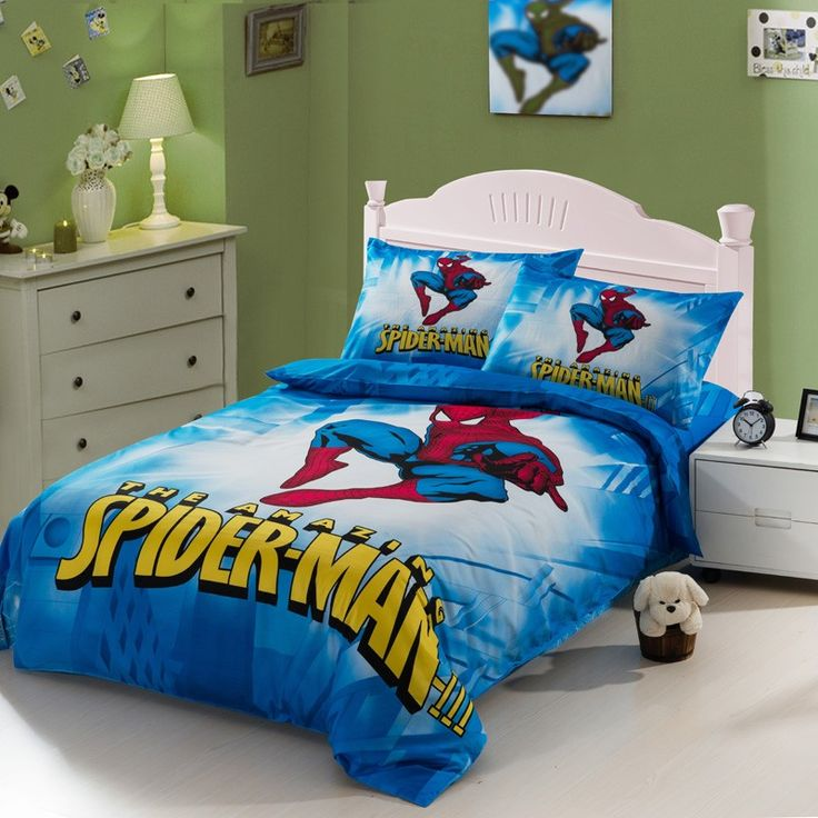 Spider Man Blue Kids Duvet Cover Bedding Sets