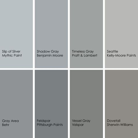 Shades Of Gray Paint Colors The Perfect Grey