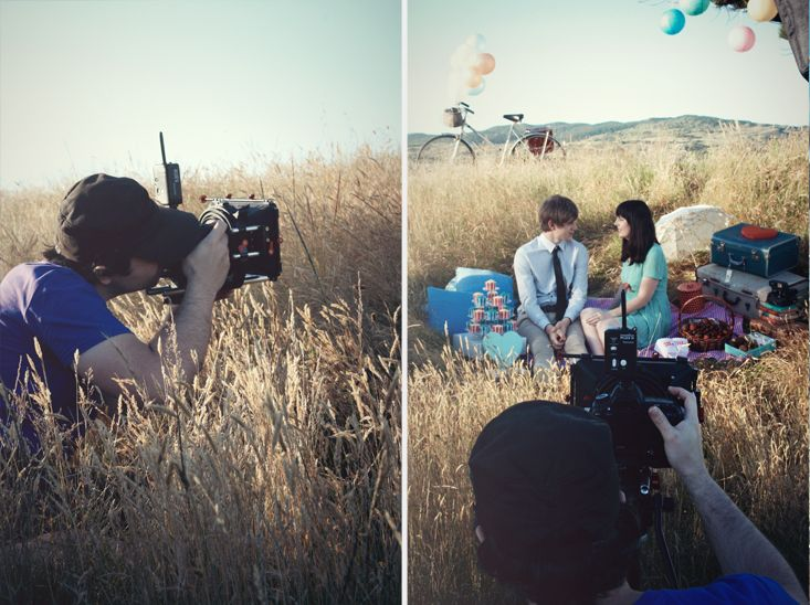 Behind the scenes of Amanda + Jeremy - inspiration shoot by A Couple Of Night Owls