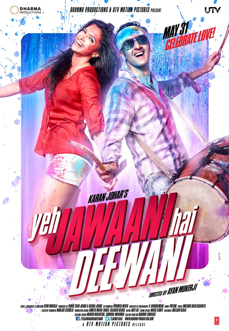 The jodi that caught the nation's imagination is back doing what they do best… celebrating love!    Catch Deepika Padukone and Ranbir Kapoor this May 31st in Yeh Jawaani Hai Deewani. Here's the first look!