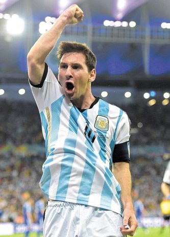 Argentina soccer player Lionel Messi. Killer player. Ask the Bosnians.
