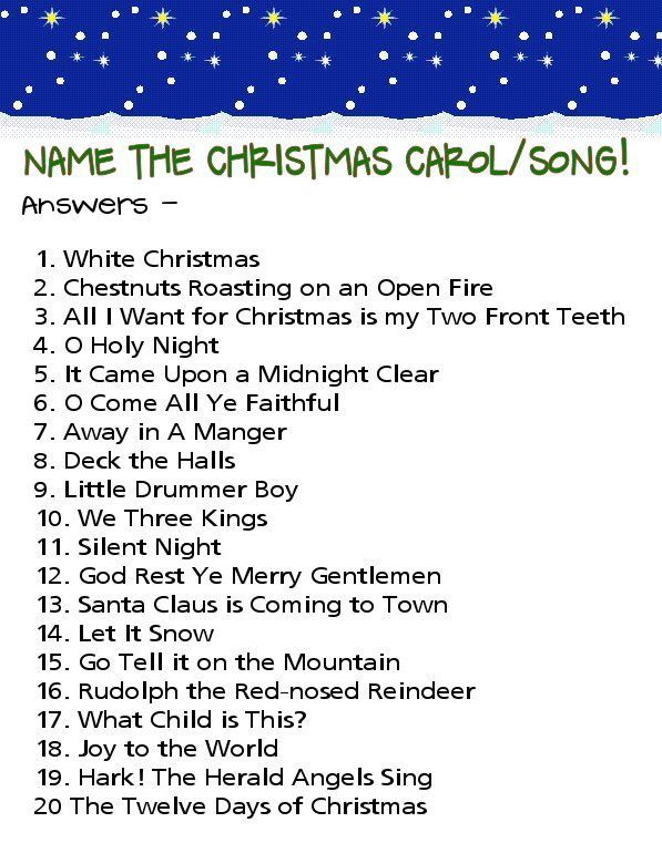 image relating to Christmas Song Quiz Printable referred to as Printable Xmas Carol Quiz Queries And Options