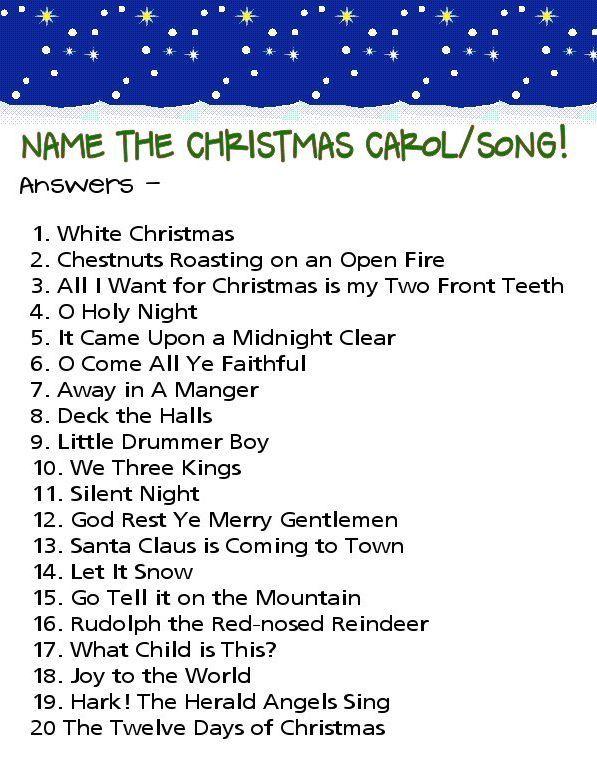 picture regarding Christmas Song Quiz Printable identify Printable Xmas Carol Quiz Inquiries And Methods