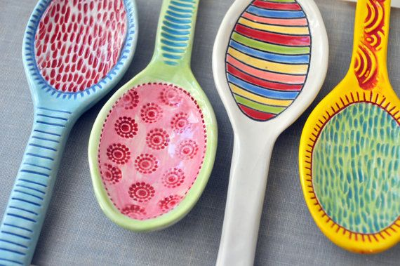 Decorative Art Spoon Ceramic Spoon Sculpture by chARiTyelise, $42.00