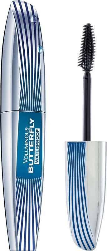L'Oréal Voluminous Butterfly Waterproof Mascara Blackest Black Ulta.com - Eye Makeup Product Mass: L'Oréal Paris - Voluminous Butterfly Mascara  Innovative mascara that comes with an asymmetrical, ergonomic brush with flexible arch designed to lift outer corner lashes for winged-out effect Silky formula that instantly coats lashes in a delicate veil for longer looking lashes  $8.99, 'LOreal ParisUSA.com, Ulta.com, Walmart, Target