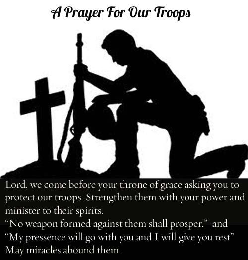 This Soldiers Prayer is meant to keep a soldier safe and courageous on the battlefield.