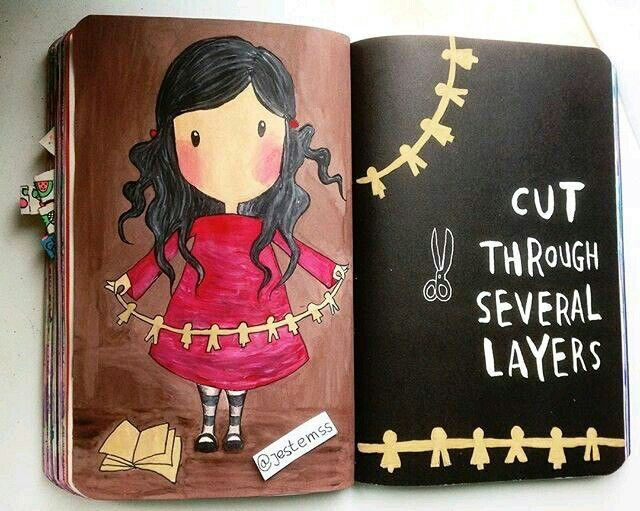 Wreck this journal | cut several layers