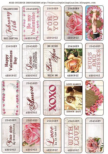 Love these vintagey Valentine's printables.  such a fun freebie!