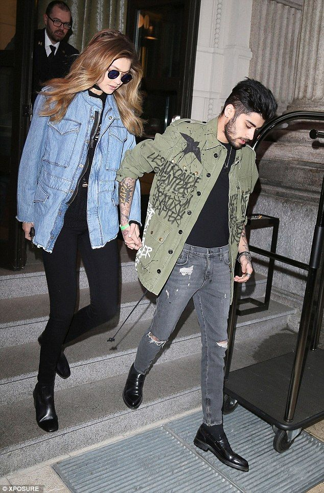 Hold my hand: Zayn Malik and Gigi Hadid certainly paid testament to the age-old idiom as they looked extremely cosy as they reunited in Milan on Sunday. The 23-year-old former One Direction star protectively