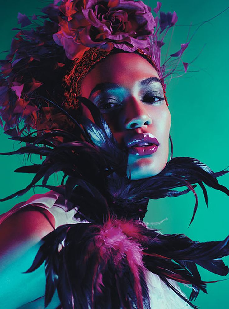 Joan Smalls - feathers