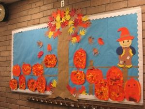 Bulletin Boards ~ In every elementary school classroom there was at least one of these -a decorated bulletin board. Don't forget the scallop boarder!