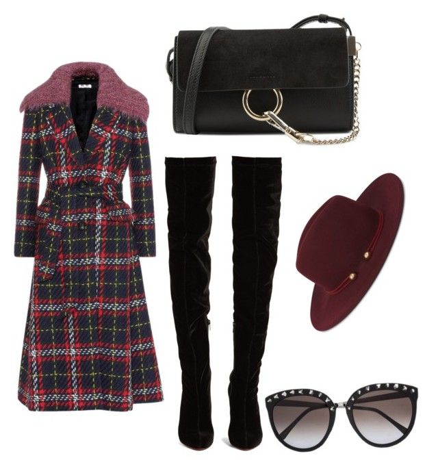 """""""Emotions of fall"""" by daniellerose17 on Polyvore featuring Miu Miu, Christian Louboutin, Chloé and Nine West"""