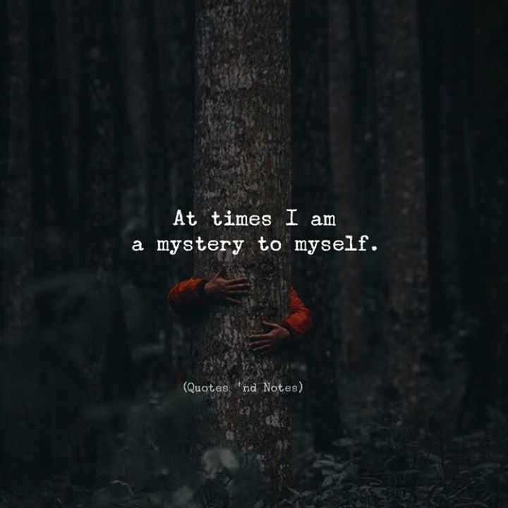 At times I am a mystery to myself. via (http://ift.tt/2k17PFy)