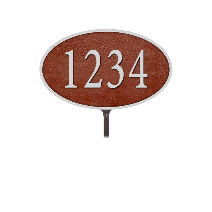 Salsbury Industries Cast Aluminum Plaque Oval Medium Lawn Mounted  #home #mailboxes #homeandgarden #homeimprovement #diy #homesweethome #broker #design #architecture #realestate