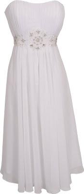 White prom dress - junior plus size graduation dresses