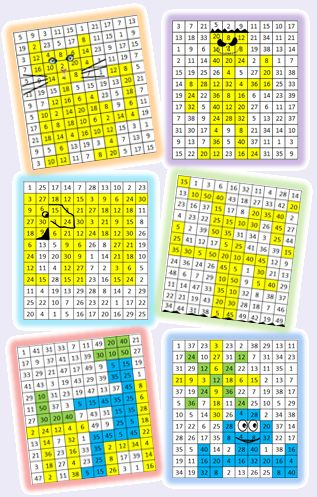 Les 25 meilleures id es de la cat gorie tables de for Jeu des multiplications