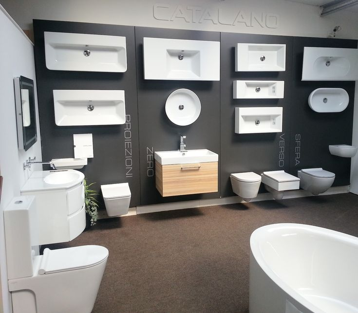 Plumbing showroom design google search national for Bathroom displays