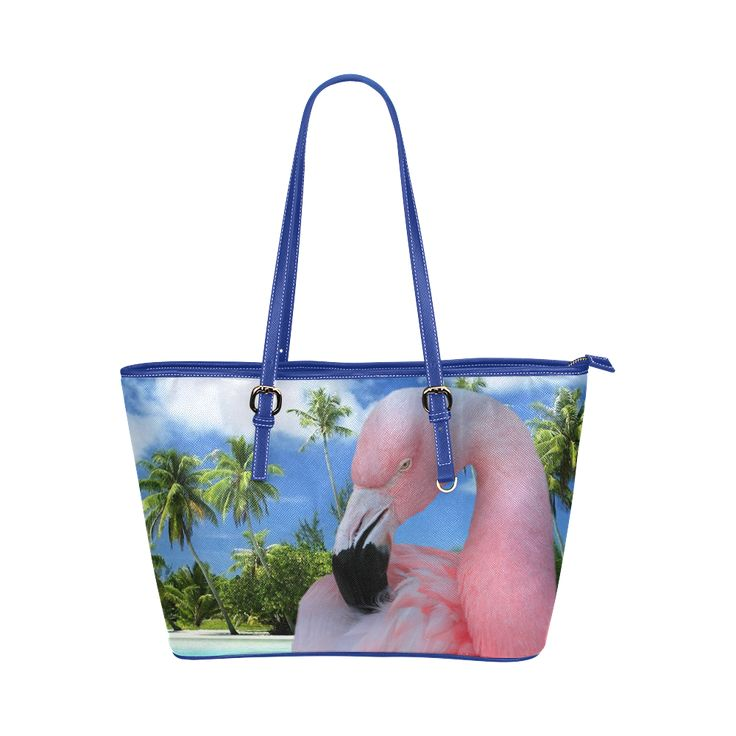Pink Flamingo Leather Tote Bag/Large.  FREE Shipping. FREE Returns #bags #flamingos