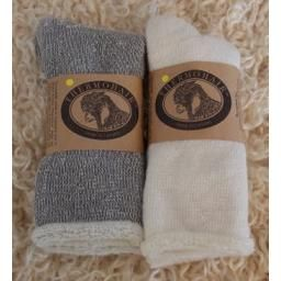 Mohair Sock, Therapeutic Grey, Men's: Made from super soft kid mohair. Warm and breathable, made in Canada