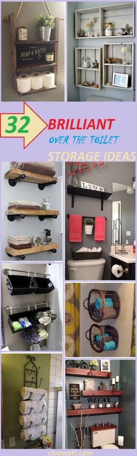Trendy Bathroom Shelf Above Toilet Diy Wood Shelves Ideas   – Bathroom ⌂ – #ba…   – most beautiful shelves