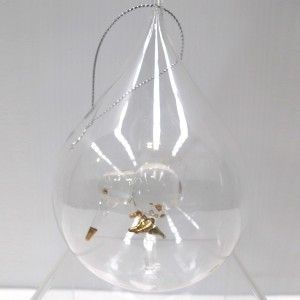 Le Forge Glass Teardrop Ball with Kiwi Gold