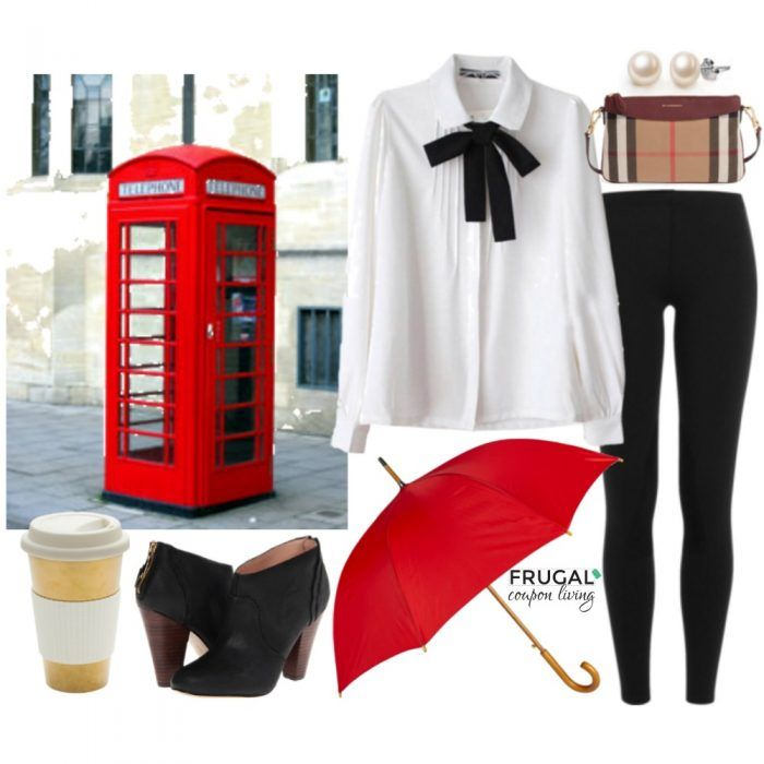 What to Wear in London Outfit - It's another Frugal Fashion Friday and this week we put together the perfect outfit for England. Outfit of the Day.