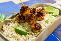 Looking for a unique and delicious appetizer? For your next party make Chef and Food Network star, Jake Smollett's Yakitori Chicken Meatballs! Don't miss any more great recipes like this by watching Home & Family weekdays at 10a/9c on Hallmark Channel!