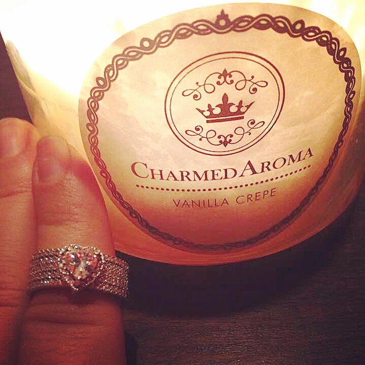 Stunning ring stack uncovered from the heart of Charmed Aroma candle. Get your now today!