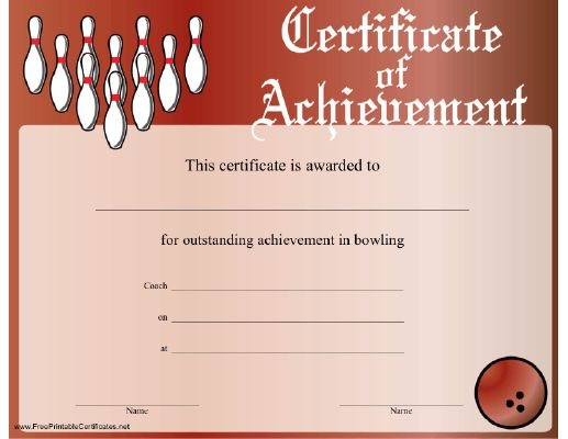 1000 images about scrapbooking on pinterest flying disc tropical fish and colorful rooms for Bowling certificate