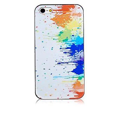 druipende+verf+patroon+zwart+frame+achterkant+van+de+behuizing+voor+de+iPhone+4+/+4s+–+EUR+€+1.91