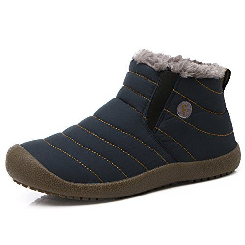 SITAILE Men's Water-proof Winter Blue, ankle hig, size 10