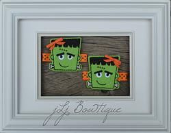 Adorable Green & Orange Frankie Hair Clips  - $5.00 for pair on jLj Bowtique