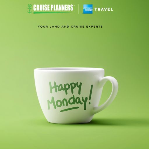 "Nothing like a cup of joe that says ""Happy Monday"" in CP green. Continue your awesomeness. - http://ift.tt/1HQJd81"