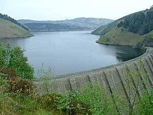 Large water storage dam