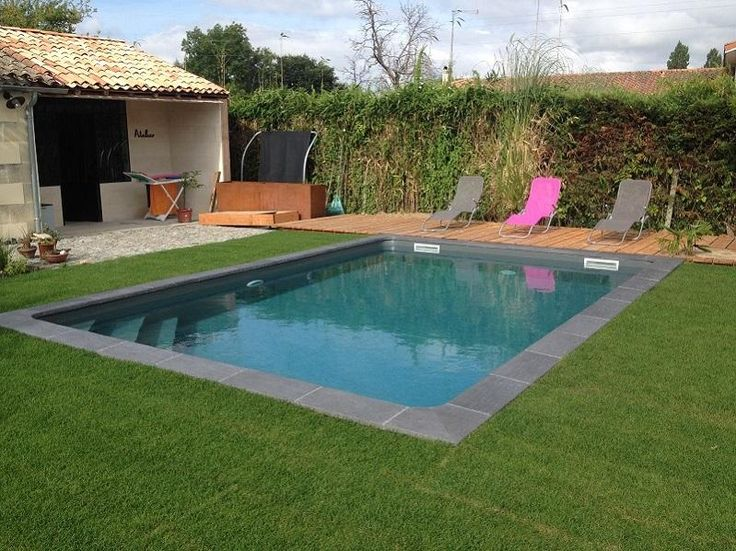 Photos piscine liner gris anthracite recherche google for Piscine 7x3