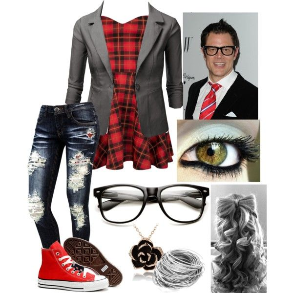Cute Nerd Outfit ~Inspired by Johnny Knoxville