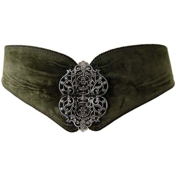 green suede buckle waist belt ❤ liked on Polyvore