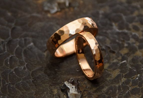 Check out this item in my Etsy shop https://www.etsy.com/listing/473637770/18k-solid-gold-rose-gold-wedding-set