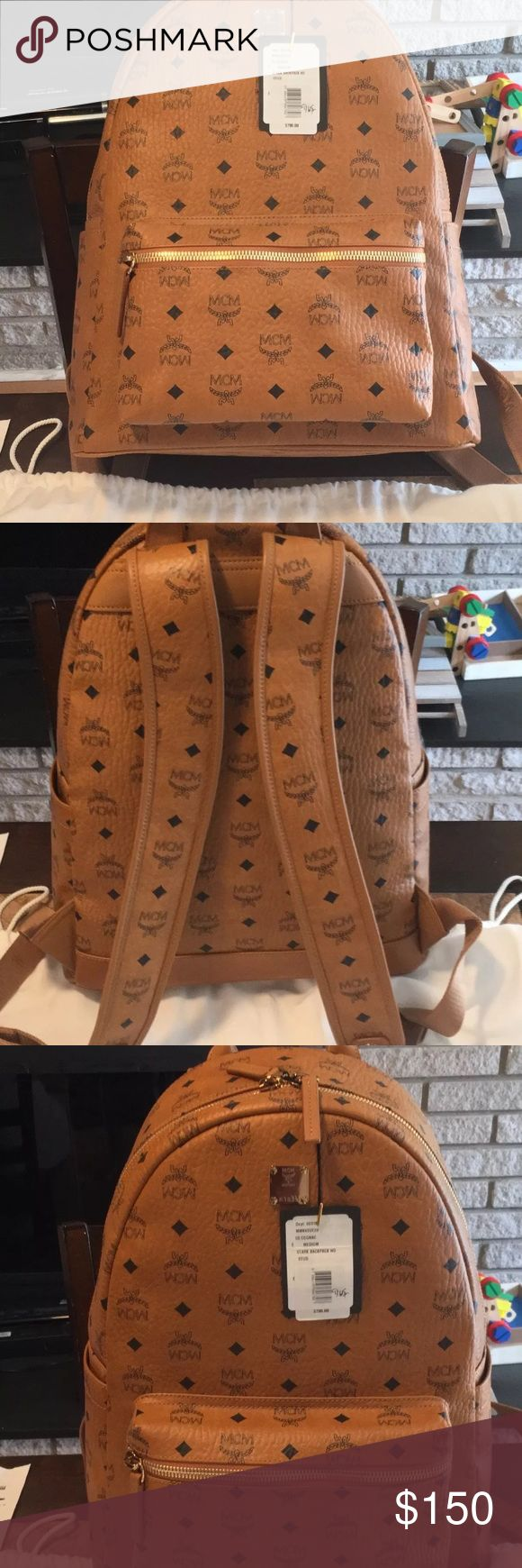 Mcm backpack Selling cheap, I have multiple in stock as of right now, I will not be responding to posh mark comments so if you have any questions text me - 531 301 2735 , I am also willing to negotiate the price . MCM Bags Backpacks