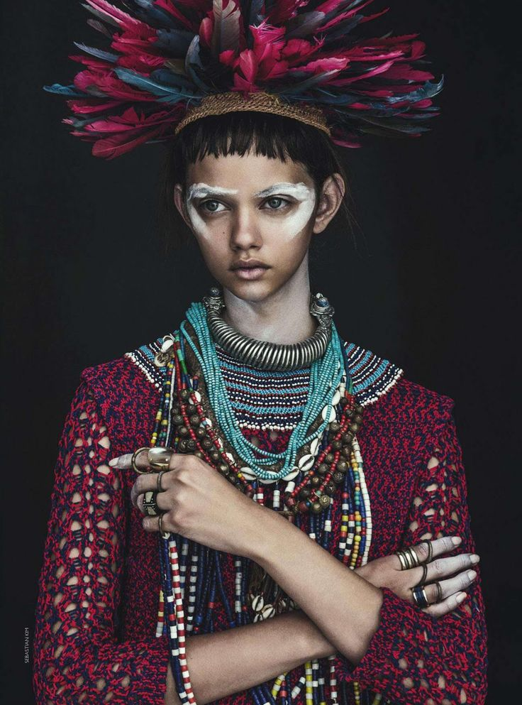 "Model: Marina Nery | Photographer: Sebastian Kim | Stylist: Katie Mossman | Make-Up: Mariel Barrera | Hair: Bok-Hee  - ""Tomorrow's Tribe"" for Vogue Australia, April 2014"