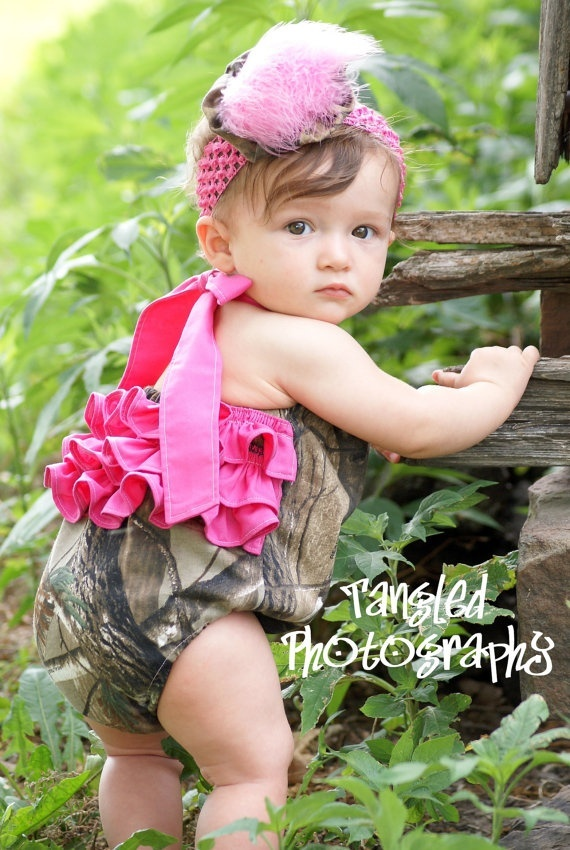 Camo Girl Bubble Romper @Kristy Lumsden cute kid baby boy baby girl