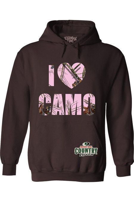 Dark Chocolate - Mossy Oak® Roots Heart Relaxed Pullover Hoodie | The quality of this pullover hoodie is one of the best and the double-lined hood with matching drawstring finish off the details.  • This style has a relaxed and causal fit; if you are in-between sizes or want a more fitted look we recommend you go down a size  • 7.75 oz., 50% cotton, 50% polyester  • Double-needle stitching  • 1x1 rib knit waistband and cuffs
