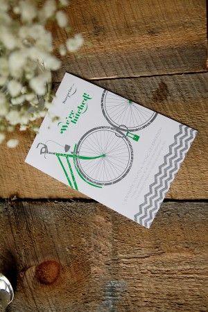 Bike wedding invite