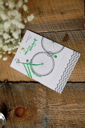 Bike wedding invite