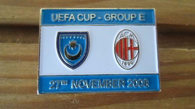 PORTSMOUTH V A.C MILAN UEFA CUP MATCH BADGE 2008