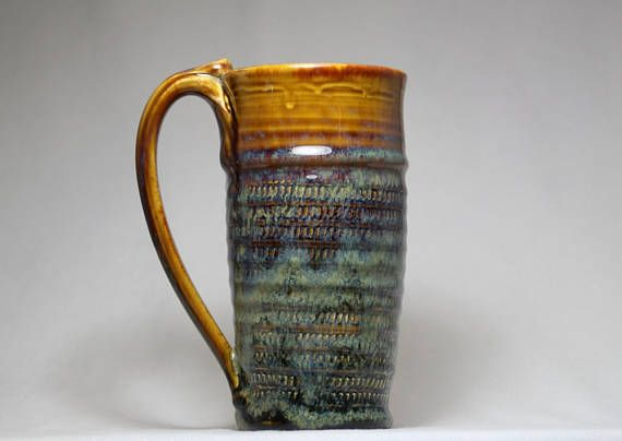 beer mug 18oz stoneware pottery mug tall coffee mug